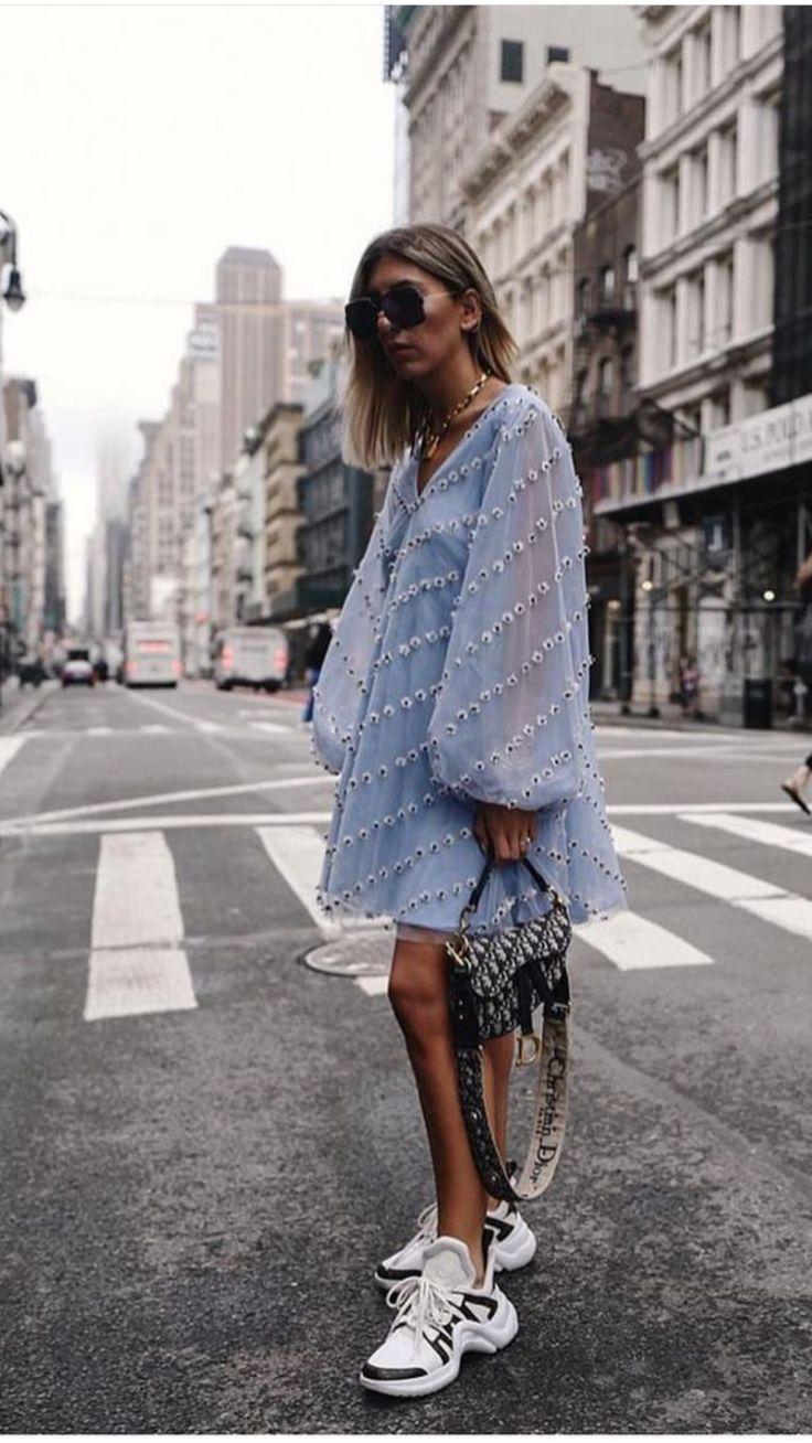 Ganni blaues Kleid