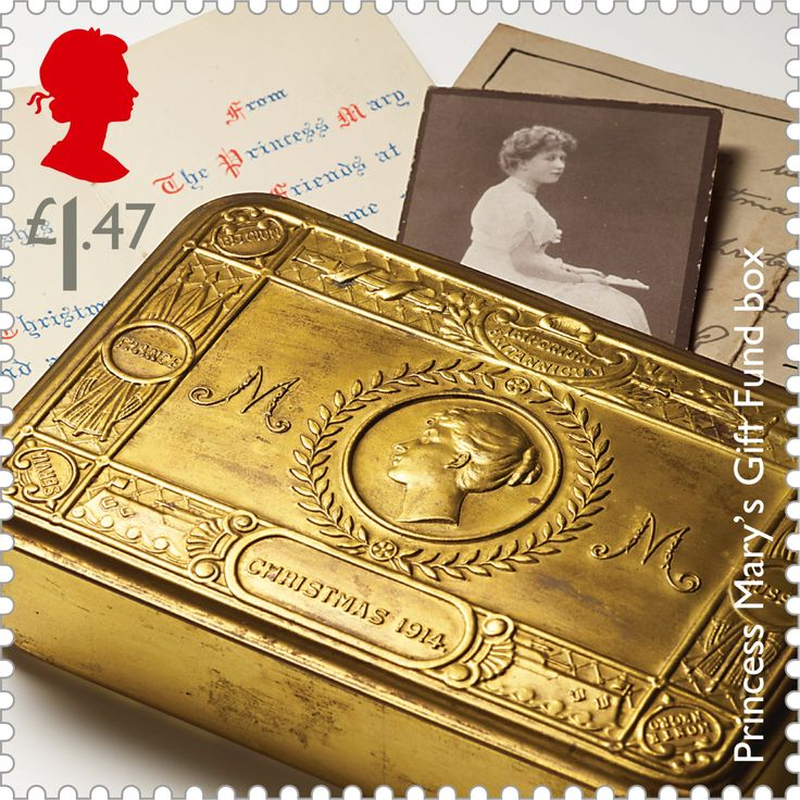 Images of Princess Mary's Gift Fund box, 1st class. More here: http://bit.ly/X2yQvb