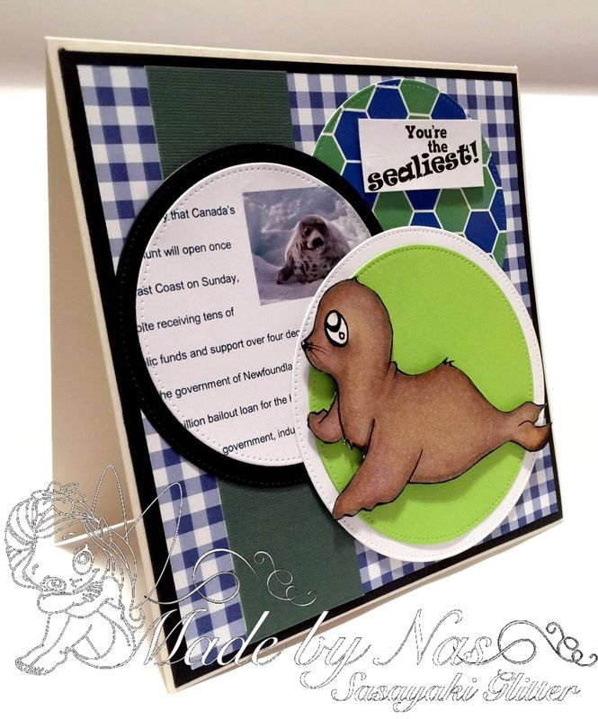 Another card I made for Save the Seals cause. You can find out more about this cause here: http://oddballartco.blogspot.ca/2015/04/oddball-art-co-presents.html You can purchase the digi from here: https://www.etsy.com/listing/189104982/charitable-digital-stamp-set-kawaii?ref=shop_home_active_1&ga_search_query=seals More information on my blog: http://sasayakiglitter.weebly.com/blog