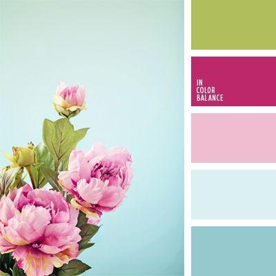 azul celeste, color de las peonías, color peonía rosada, colores para una boda, elección del color, gama de colores para boda, paleta de colores para una boda, selección de colores, tonos celestes, tonos rosados.