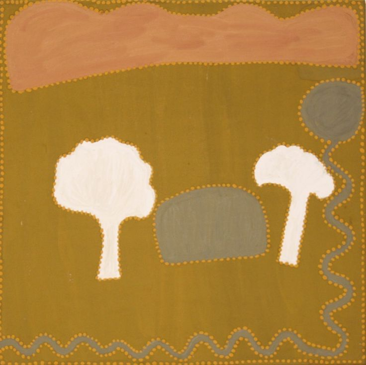 Minnie Lumai - 'Bubble Bubble', 2012 - 45 x 45cm - Natural ochre and pigment on canvas - Ref. 389712 - IDAIA - International Development for Australian Indigenous Art © The Artists - Photo Courtesy of Waringarri Aboriginal Arts