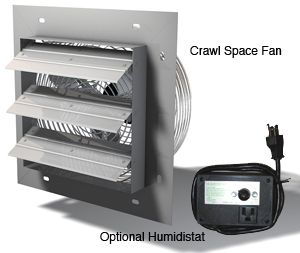 Crawl Space Electric Fan Wondering If This Can Be Used