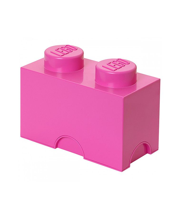 Lego Mattoncino Contenitore LEGO - Rosa - 2 Bottoncini Contenitori Porta Giochi