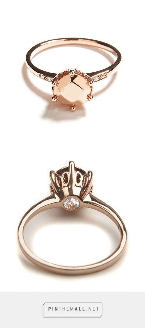 Hazeline solitaire stoneless engagement ring – Anna Sheffield - created via http://pinthemall.net
