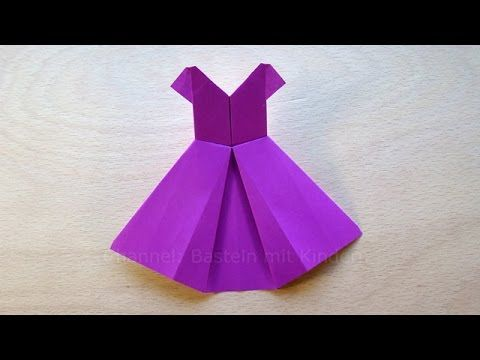 Jurk vouwen - Jurk knutselen met papier - Origami jurkje maken - DIY