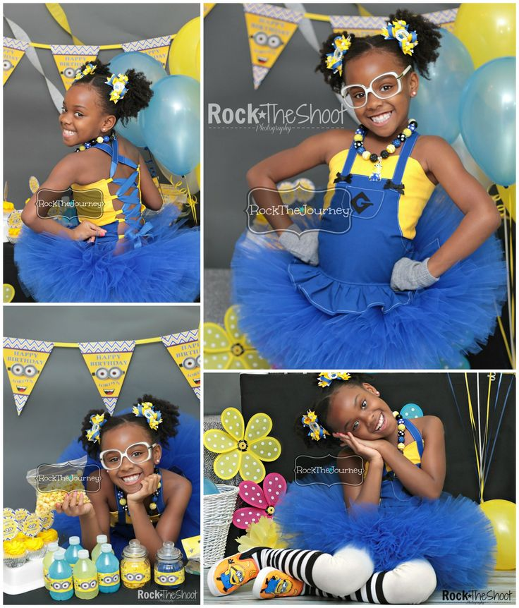 Minion Girl Despicable Me Birthday Party Tutu Outfit - Rock The Journey