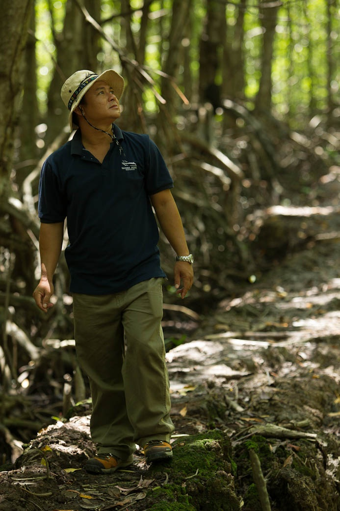 Our local guide at Vam Sat Park in Can Gio Mangrove Forest