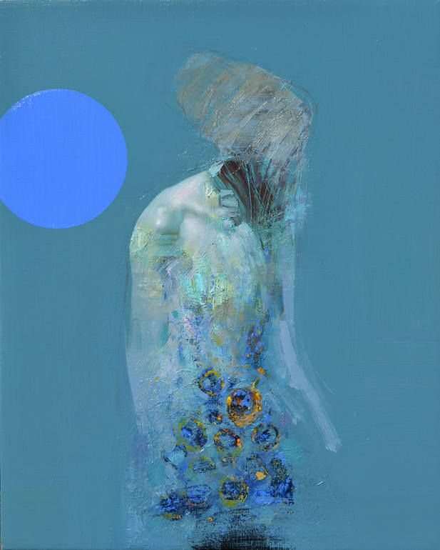 Painting by One-to-Watch artist Zin Lim. Read his feature: http://magazine.saatchiart.com/articles/artnews/saatchi-art-news/one-to-watch/zin-lim #blue