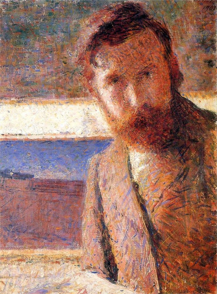 Giacomo Balla (Italian, 1871-1958)  ~  Self Portrait, 1902 ~ He was a founding member of the Futurist movement in painting.