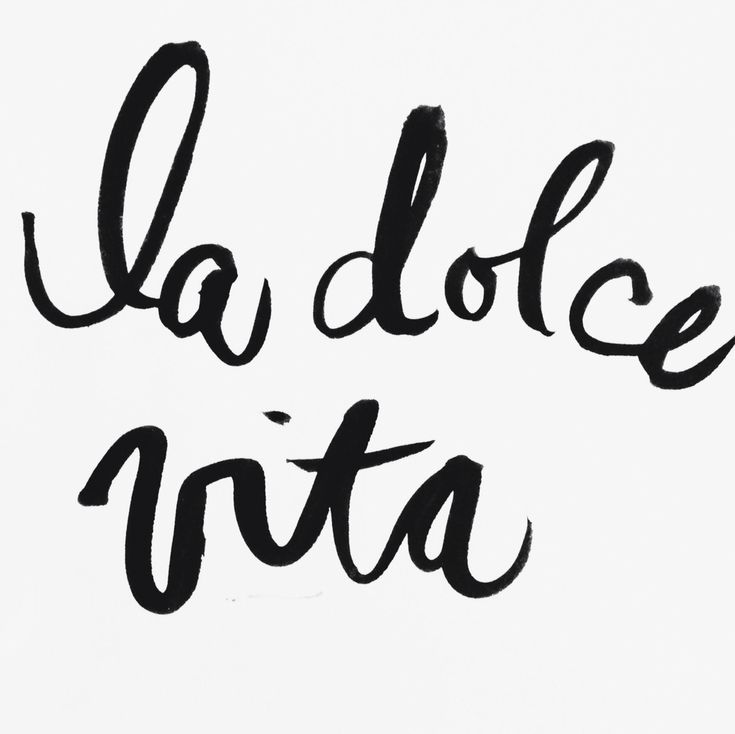 La dolce vita. Good food, good drinks, good people. Because life is meant to be lived, and lived well.
