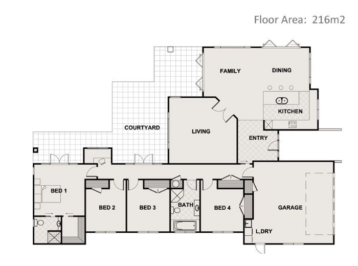 1000 images about floor plans 200m2 250m2 on pinterest for New build house plans
