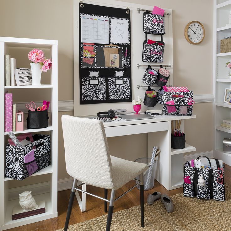 Create a relaxing home office space or homework area with our organizing home products! www.lindsaytanner.net