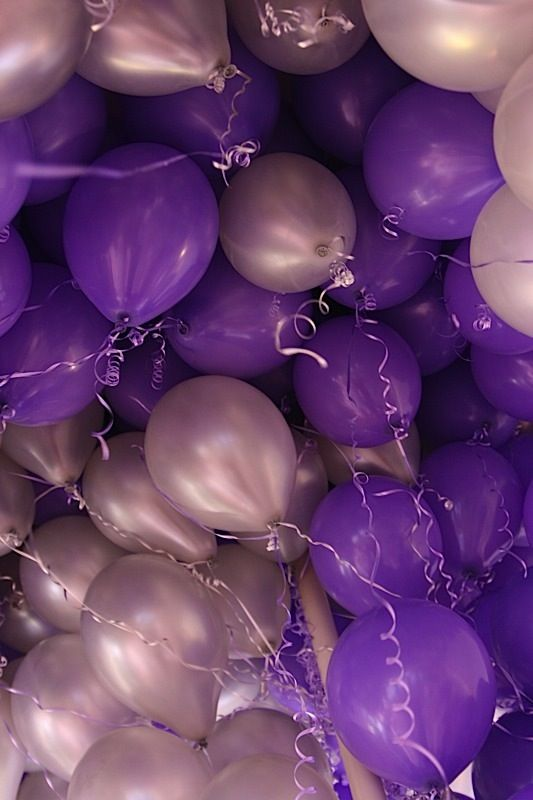 Purple & silver balloons!