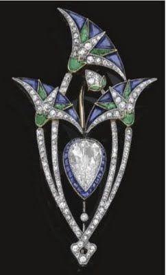 Boucheron Lotus brooch    Sotheby