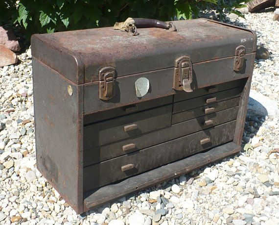 Vintage Kennedy Kits Tool Chest Machinist Tool Box Kennedy