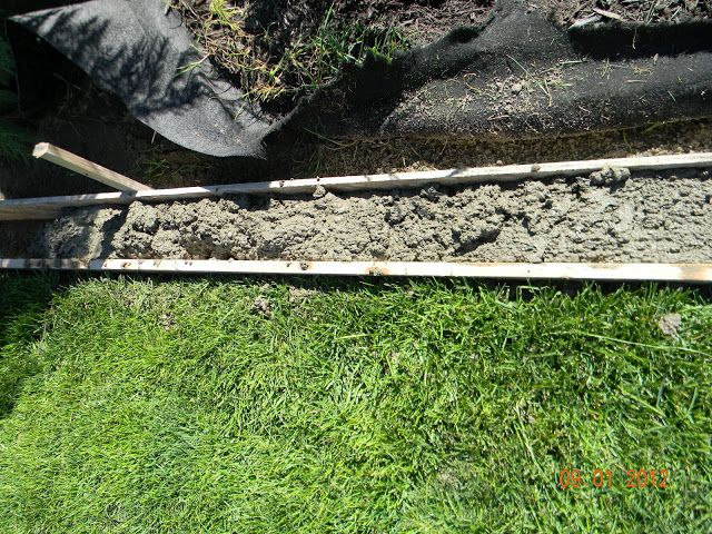 As you know we have been trying to get our yard in for a while and do it under budget. We decided to put in our own concrete curbing, a...