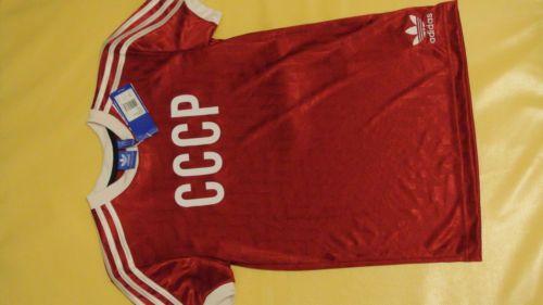 49$ NWT-Adidas-Originals-Men-039-s-Russia-Home-Jersey-T-shirt-USSR-Retro-AJ8024-Red #Adidas #AdidasOriginals #T-shirt #Russia #Men #USSR #Retro #SovietStyle #CCCP #Red