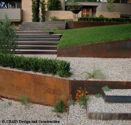 стальные подпорные стены и лестницы