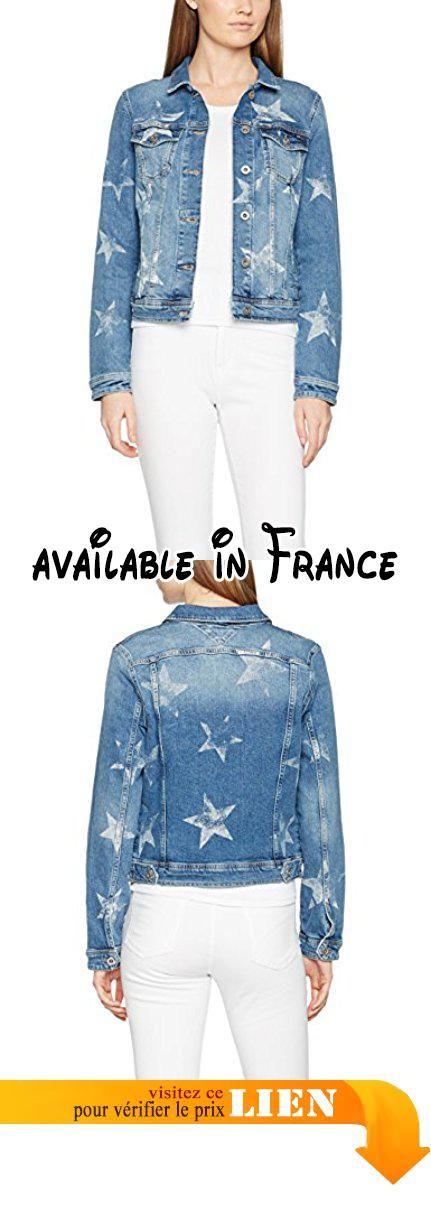 Hilfiger Denim Thdw Pattern Trucker Jacket 30, Blouson Femme, Bleu (Star Print), 34 (Taille Fabricant: X-Small).  #Apparel #OUTERWEAR