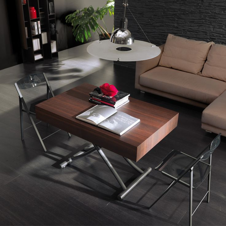 The Cristallo Table Is A Multi Height Transforming Coffee Table That Easily  Transitions Between Coffee And Dining Table. Glass Top And Metal Frame.