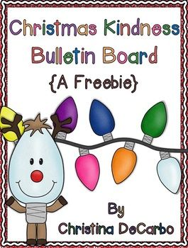 This little freebie will help you spread some Christmas kindness throughout your classroom AND create a cute, colorful bulletin board for the month of December!  Make copies of the light bulb template you wish to use with your students. (There is a template for writing and one for drawing.) Copy the light bulb on various colored construction paper OR let the kids color the light bulbs.