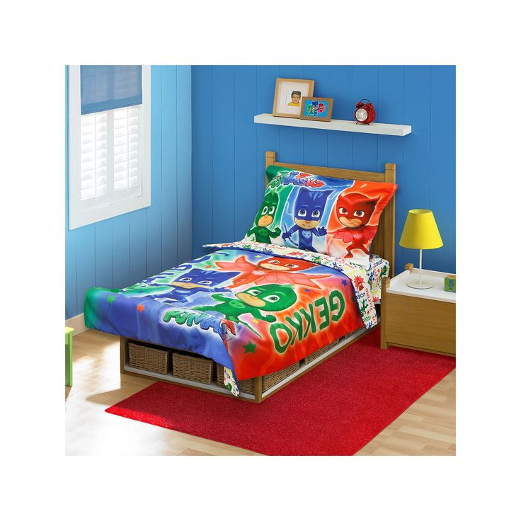 PJ Masks 4-pc. Toddler Bedding Set, Multicolor