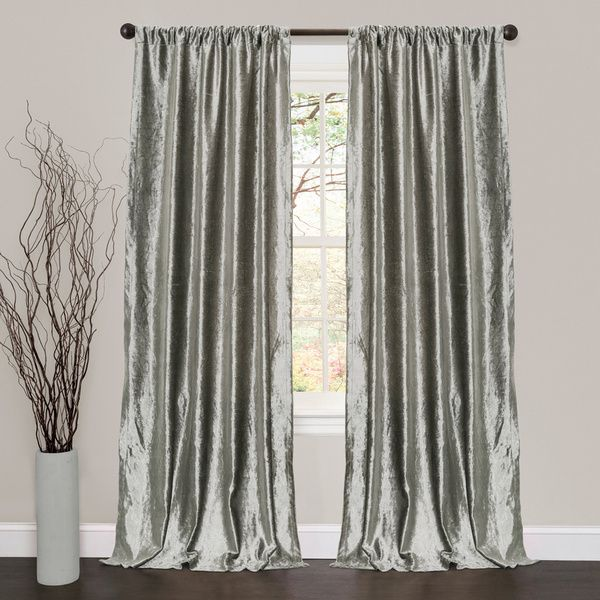 lush decor velvet dream silver 84inch curtain panel pair overstock shopping