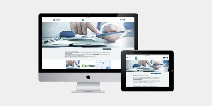 Kantoor Stragier - Website realisatie - Communicatie en reclamebureau 2design Roeselare - Grafisch ontwerp, webdesign en apps - Website