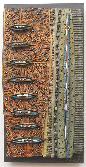 VICKI  GRANT - Homage to Tane Mahuta_ No. 11(Porcelain and mixed media on slate)