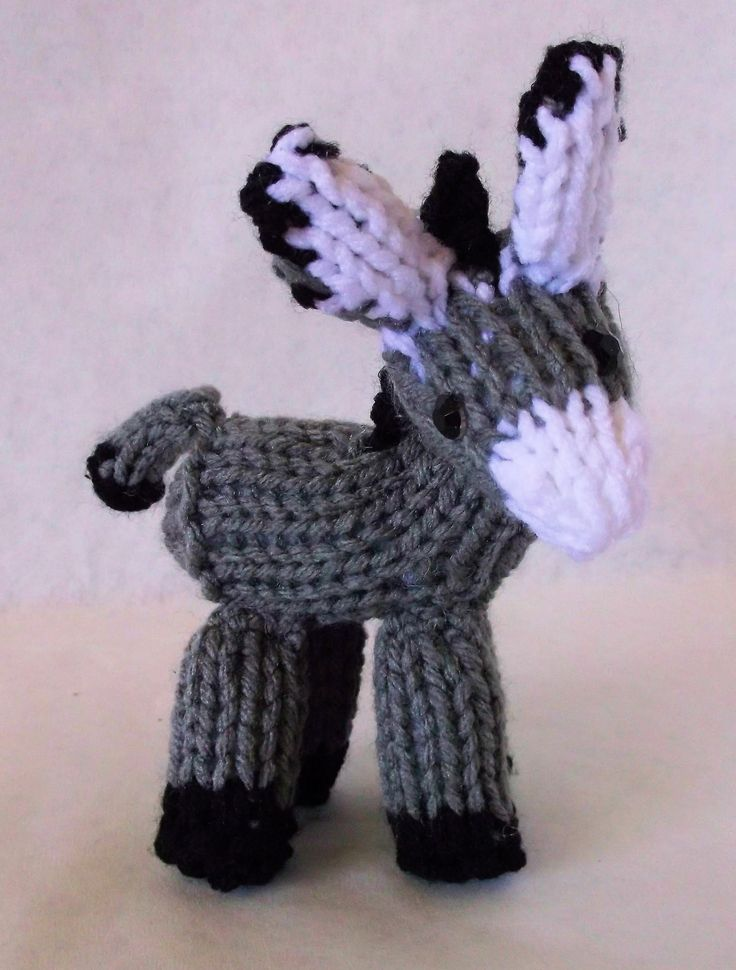 Knitting Patterns For Miniature Animals : 230 best donkeys images on Pinterest Donkeys, Animals and Felt animals