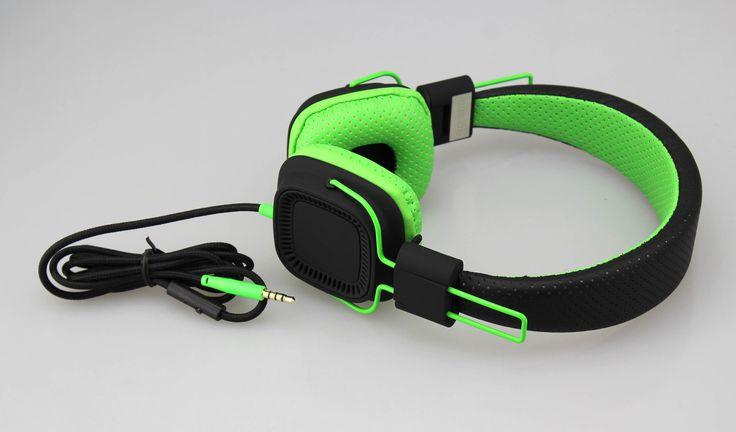 Deep Bass Headphones BLACK GREEN
