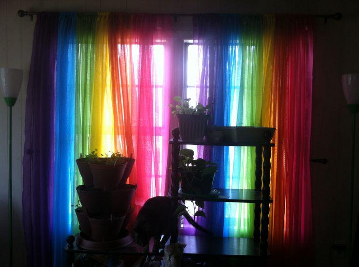 Rainbow Curtains Curtains Pinterest Curtains And