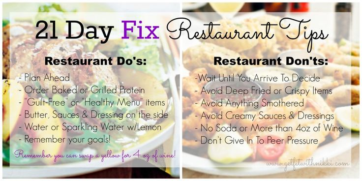 21 Day Fix Restaurant Tips - Get Fit With Nikki