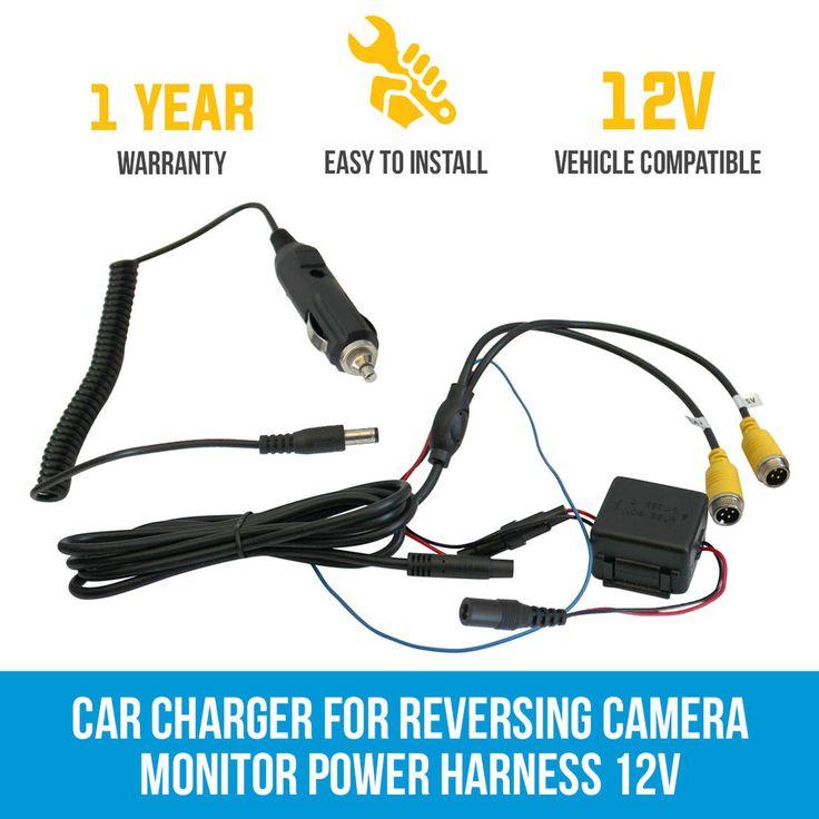 Car Charger for Reversing Camera Monitor Power Harness 12V Truck Caravan   Elinz