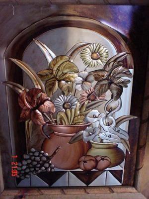 cuadros de repujado cuadros aluminio,cobre,laton hecho a mano,repujado