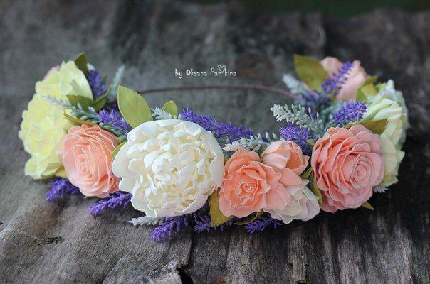 Автор цветов из фоамирана Оксана Панькина