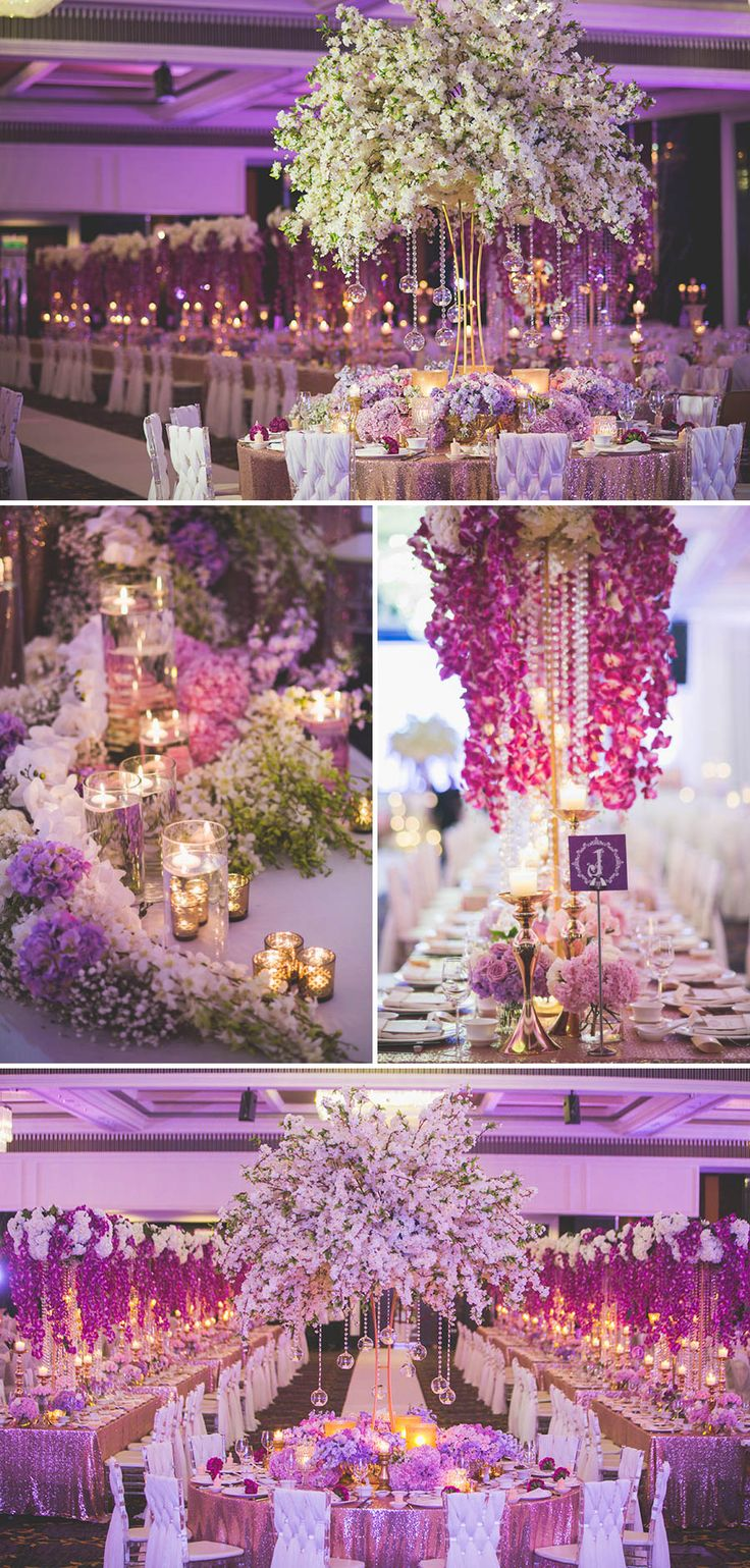106 best purple weddings images on pinterest purple wedding lilac purple ballroom wedding decor ideas and inspiration purple splendour jwin and pei lus junglespirit Gallery