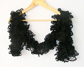 knit scarf,ruffle scarf,black knitting scarves,women knit scarf,warm,light,fashion,scarf trends,valentines day