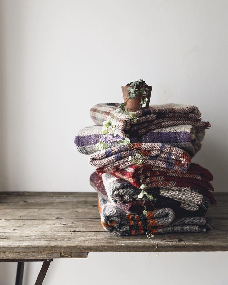 Let's stay warm today. New colour collection in our Welsh recycled throws now available. Each one is unique just like you.
