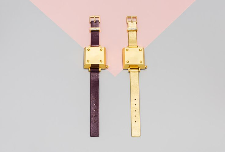"""""""Tango"""" Jawbone Bracelet in maroon and gold and gold and gold, both retailing for $45. Photo: BaubleBar."""