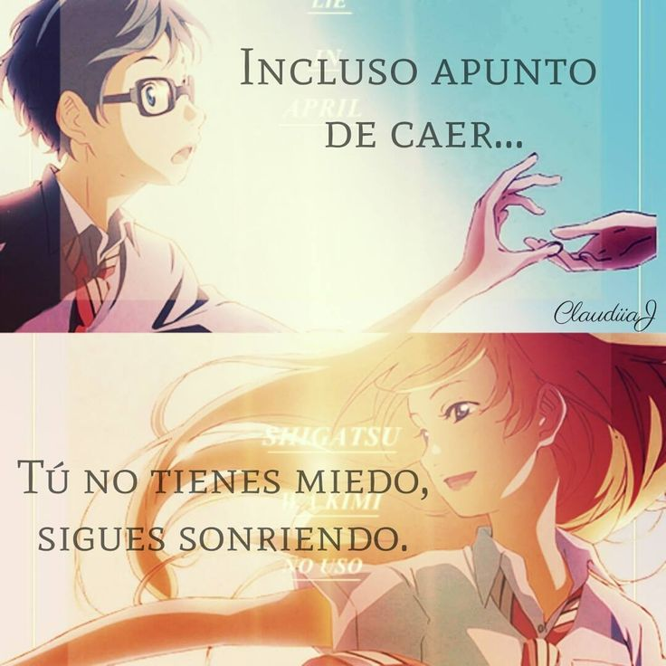Even about to fall...you have no fear,just keep smiling.~shigatsu wa kimi no uso~your lie in april