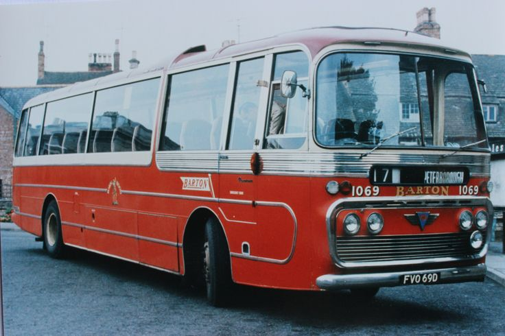 Late 1960s coaches - Barton Transport no.1069. One of a batch of ten Plaxton bodied AEC Reliance 590s added to the fleet in 1966