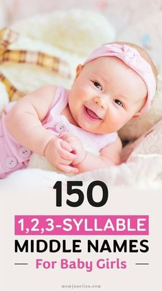 150 Beautiful Cute And Unique Middle #Names For Girls : So youve finally decided your daughters name Congratulations! But the job is still only half finished Yes you need to think about giving her an interesting middle name to complement her name.