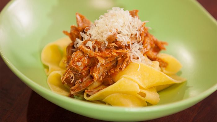 pot creamy braised chicken pappardelle creamy braised chicken with ...