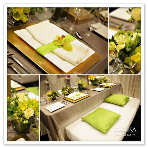 Rented Elegance - Event Design, Event Decor Rentals, Floral Decor    lotushaus.typepad.comWhite Flowers, Color Palettes, Tables Sets, Dinner Parties, Colors Palettes, Wedding Colors, Blue Weddings, Wedding Events, Shades Of Green