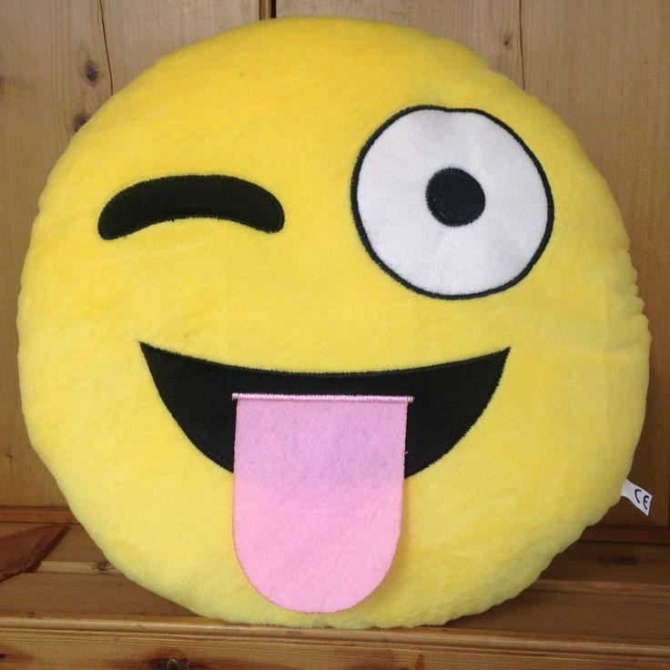 Crazy Tongue Emoji Cushion - yourgifthouse
