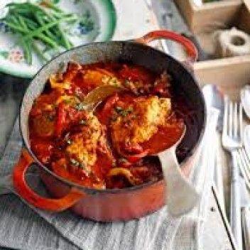 Spaanse kip in tomatensaus