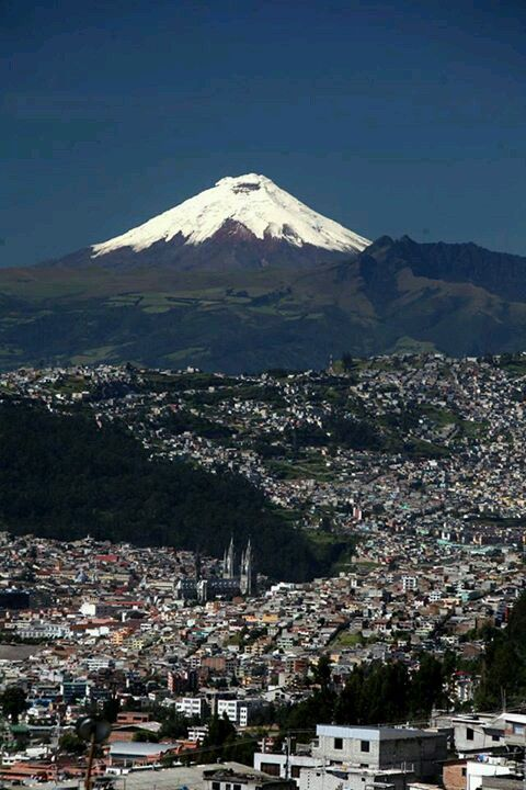 Cotopaxi view from Quito - Ecuador