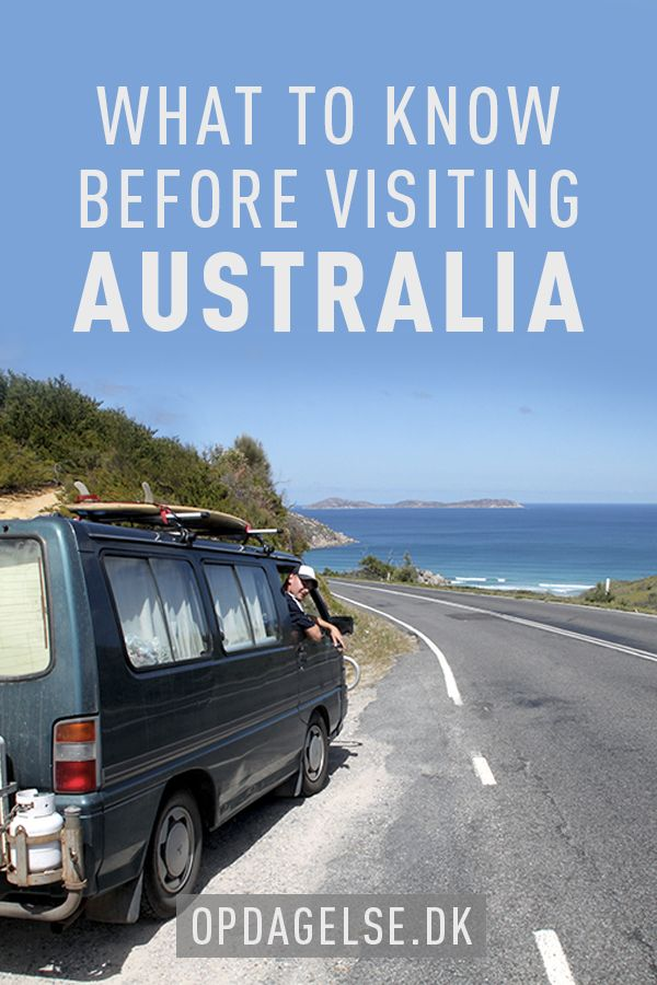What to know before visiting Australia --- The post is in danish. Choose your own language in the bottom of the right sidebar