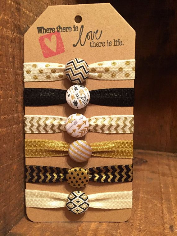 No Crease Hair Ties , Button Hair Ties, Wedding, Pony Tail, Ribbon Hair Tie…